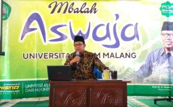 mbalah aswaja unisma dengan Drs. K.H. Hafidz Fanani