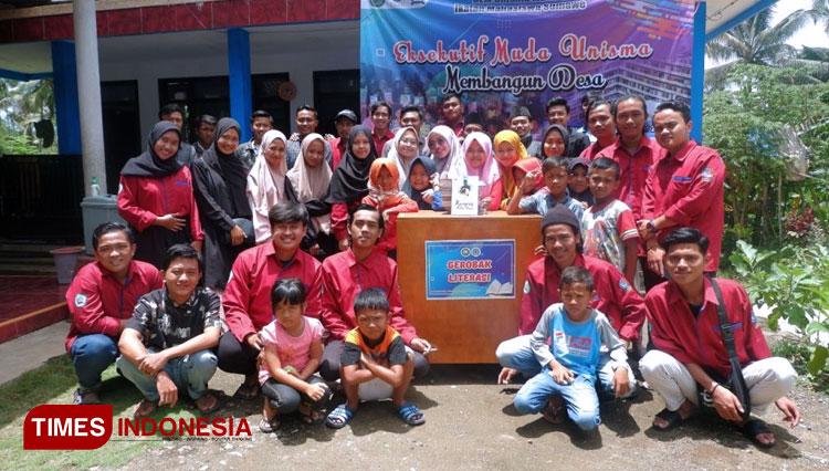 BEM Unisma Malang Berkolaborasi Dengan IMS Resmikan Pojok Literasi dan Gerobak Literasi