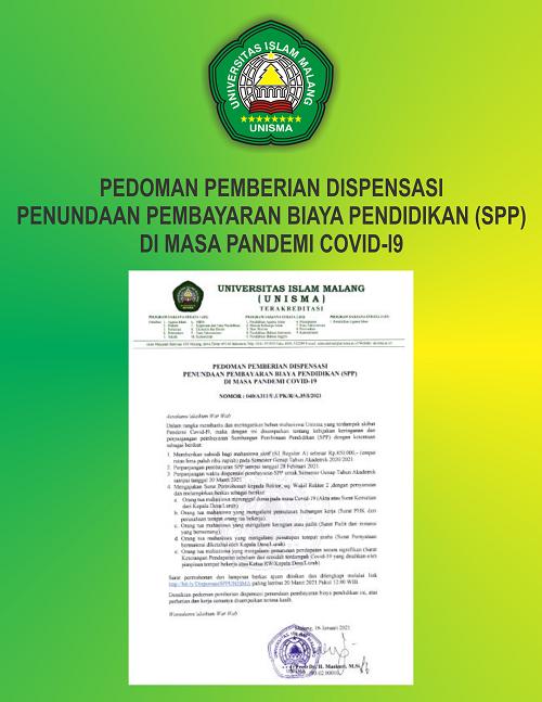 PEDOMAN PEMBERIAN DISPENSASI PENUNDAAN PEMBAYARAN BIAYA PENDIDIKAN (SPP)DI MASA PANDEMI COVID-19