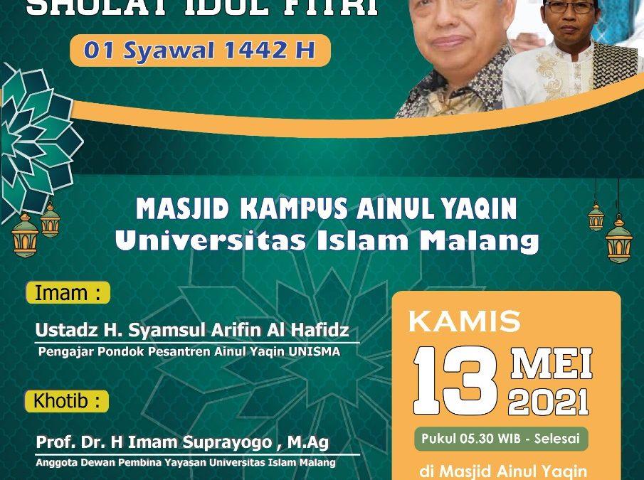 Informasi Shalat Idul Fitri 1442H di Masjid Ainul Yaqin Unisma