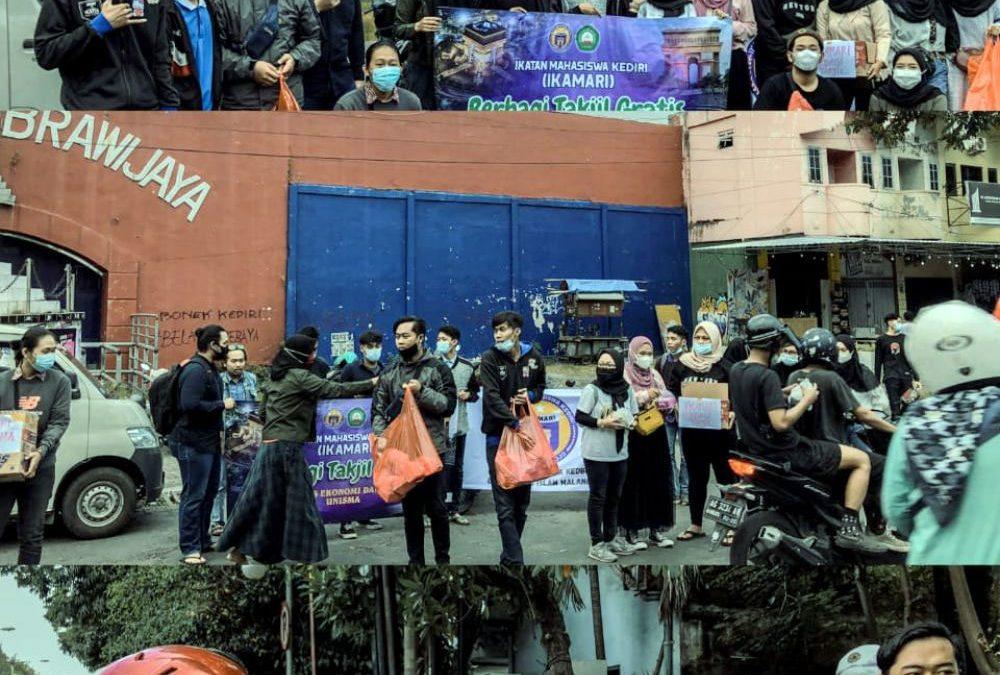 Berbagi Takjil Ala Dosen dan Mahasiswa FEB Unisma Malang di Kota Kediri