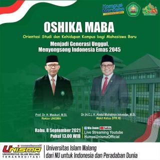 Pembukaan Oshika Maba Unisma Malang 2021